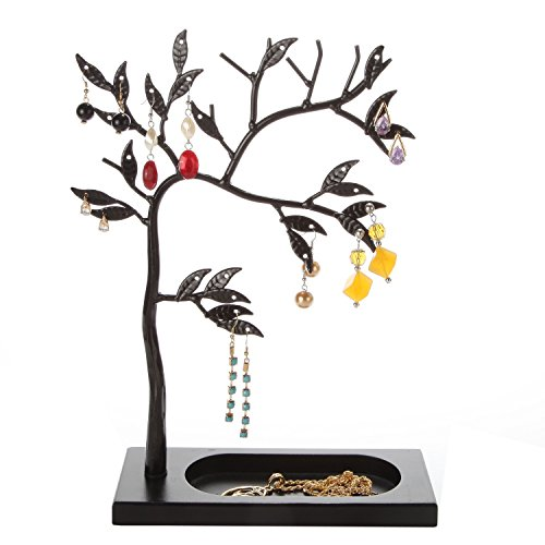 LilGift Metal Jewelry Tree / Jewelry Holder (BLACK) by LilGift