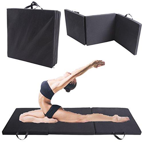 Ridgeyard Tri pliable Tapis de yoga Gym Training Workout épais rembourré 5cm d'épaisseur pour gymnastique Pilates aérobic exercices de grossesse.