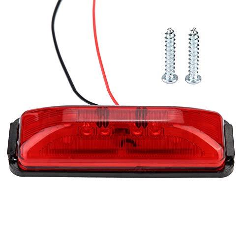 8x 12V-24V 8 LED Red Rear Side Marker Light Position For Car Truck Trailer Lorry