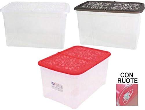 kasaviva Caja Box Multiusos con Ruedas 57 X 39 X 28 cm.: Amazon.es ...