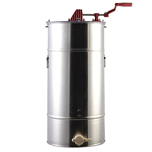 Goplus Large 2 Frame Stainless Steel Honey Extractor Beekeeping Equipment New by Goplus