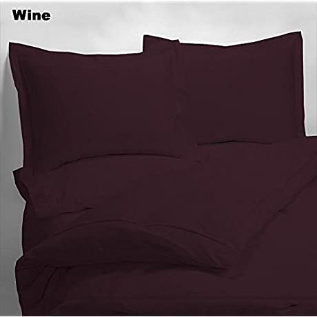 Luxury 600 Thread Counts 7pc Bed In A Bag With 500GSM Comforter California King Size Wine Solid 100 Egyptian Cotton By PARADISEHOUSE