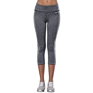 Aenlley Womens Activewear Yoga Pants High Rise Workout Gym Spandex Tights Leggings Color DarkGrey Size S