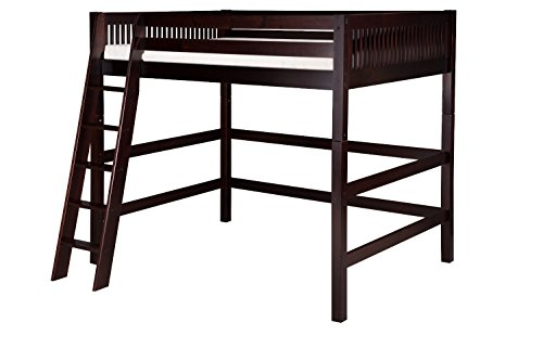 Camaflexi Mission Style Solid Wood High Loft Bed, Full, E...
