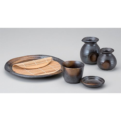 Soba-related Goods Set utw351-1--6-054  Japanece ceramic Bla