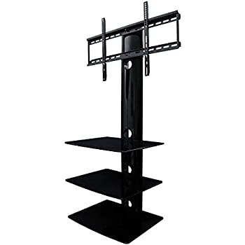swiveling tv wall mount with shelf shelves electronics. Black Bedroom Furniture Sets. Home Design Ideas