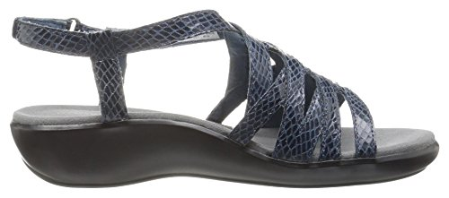 Wedge Navy Women's Sandal Rockport Caged Snake Rozelle qw4Xx68