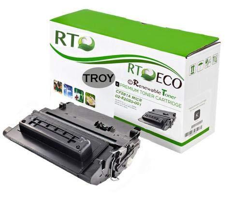 Renewable Toner Compatible MICR Toner Cartridge Replacement for HP Troy 02-82020-001 81A CF281A Laserjet Enterprise M630, M604, M605, M606
