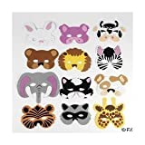 Fun Express Assortment Kids Foam Animal Face Masks Zoo Farm Party Costume (2-Pack of 12)