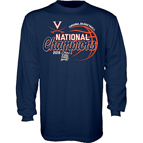 - Elite Fan Shop UVA Virginia Cavaliers National Basketball Champions Long Sleeve Tshirt 2019 Script Navy - L