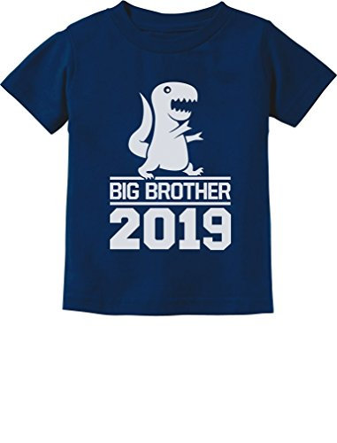 Tstars - T-Rex Boy Cute Big Brother 2019 Toddler Kids T-Shirt 5/6 Navy