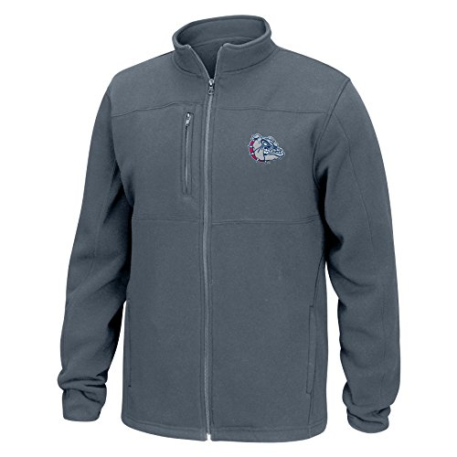 J America NCAA Gonzaga Bulldogs Men's Quest Brushed Poly Jacket, Graphite, X-Large ()