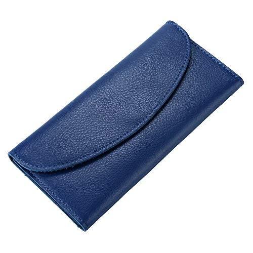 bluew Soft Purse Portemonnee Super Slanke Dunne Ontwerp Met Split Dames Handtas Portemonnees Tas Voor Handbag (color   bluew)