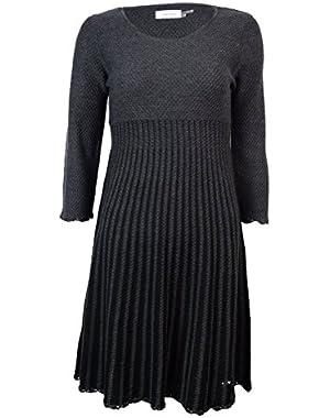 Women's Long-Sleeve Sweater Dress