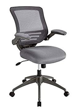 Realspace Calusa Mesh Mid-Back Chair, Silver