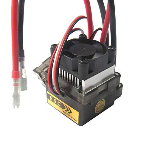 powerday 5.6V 2A 320A High Voltag ESC Brushed Speed Controller BEC for RC 1/10 1/12 Car