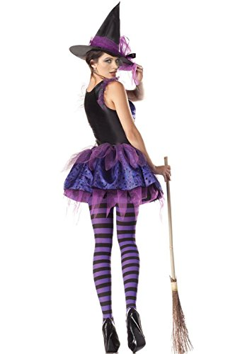 Sexy Witch Costume - Purple Classic Starry Night Wicked Witch Costume