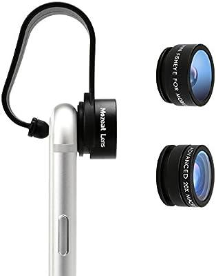 Mozeat Lens Objetivo Smartphone 2 en 1, Lente de cámara Fish-Eye + ...