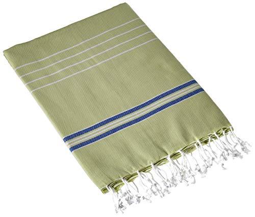Cacala Pestemal Turkish Bath Towels Striped for Beach Sauna Luxury Peshtemal 37x70 Pistachio Green-Royal]()