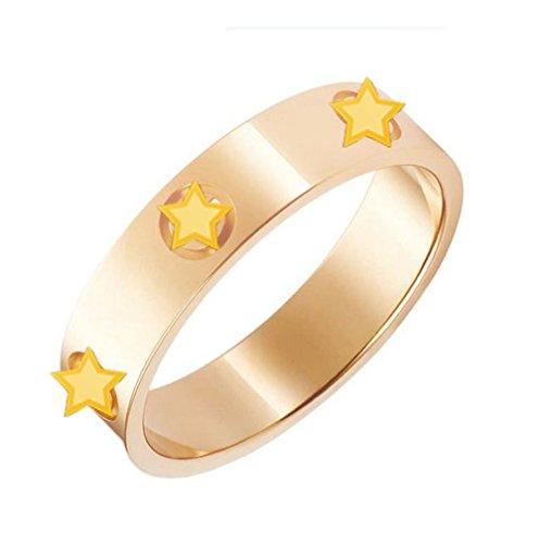 Titanium Stainless Steel Screw Head Love Wedding Ring Gold