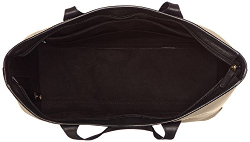Shopping bag in pelle beige -Liscio