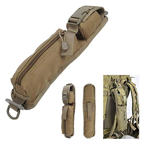 LIVIQILY Two Colors Tactical Molle Accessory Pouch Backpack Shoulder Strap Bag Hunting Tools Pouch (Tan)