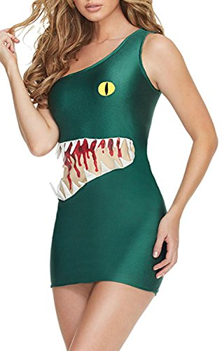 [IF FEEL Womens Sexy Halloween Masquerade Cosplay Animal Costume (One size, LC8943)] (Alien Dress Up Ideas For Kids)