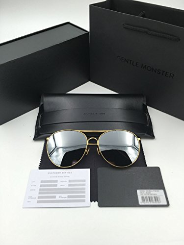 a065029ce3 Gentle Monster Titanium Sunglasses Big Bully Gold Frame Silver ...