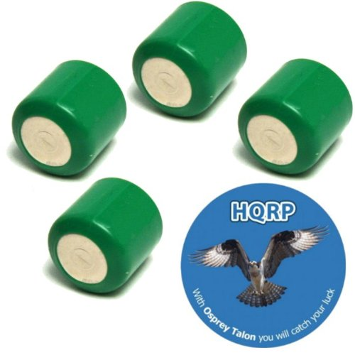 Cheap HQRP (4-Pack) Replacement Battery Cell for Power Cap Invisible Fence R21, R22, R51, MicroLite Receiver Collar + HQRP Coaster