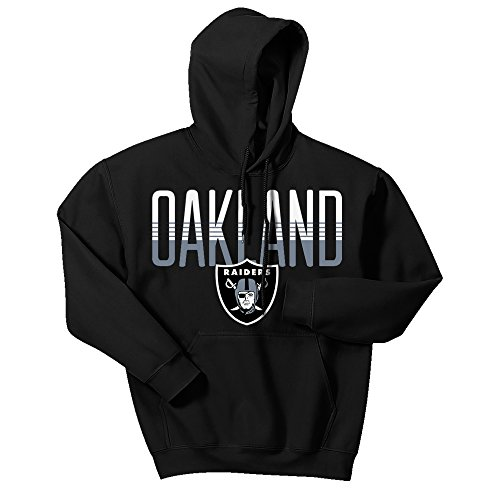 Zubaz NFL Oakland Raiders Men's Gradient Logo Hoodie, XX-Large, Black (Classic Print Screen Jersey)