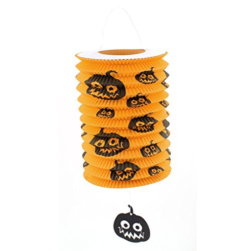 DealMux Halloween Party Pumpkin Print Paper Folded Hanging Lantern Decoration]()