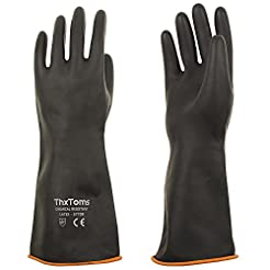 ThxToms Heavy Duty Latex Gloves, Resist ...