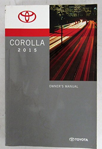 2017 Toyota Corolla Owners Manual Guide Book