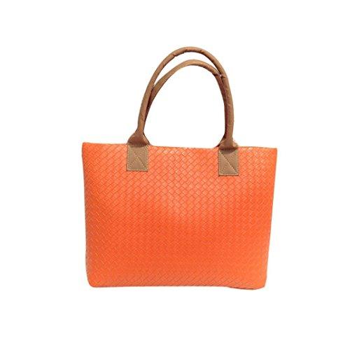 Bag Euone Bag Handbag Large Woven Orange Messenger Women Leather Shoulder Hobo qRWwARIP