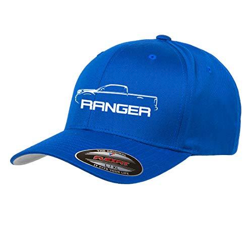 2019 Ford Ranger Super Cab - 2019 2020 Ford Ranger Super Cab Pickup Truck Classic Outline Design Flexfit hat Cap Large/XLarge Royal