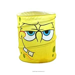 Pop Up Papelera Bob Esponja Sponge Bob Basurero Bin Decor Bote Basura Ninos