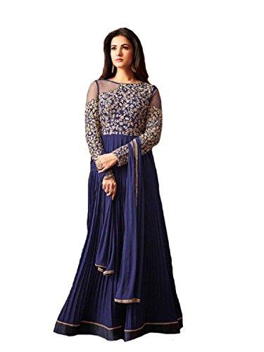 a5d0e4376 Delisa New Indian Pakistani Designer Georgette Party Wear Anarkali Suit  Maisa 04