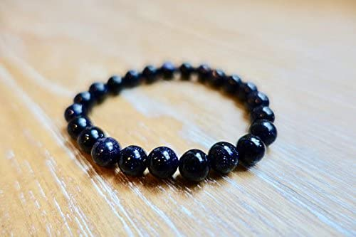 WAR10440 AAA+ Rare Quality 8 mm Beads Blue Sandstone Healing Protection Gemstone Chakra Reiki Home Gift Love Mother Handmade Natural Necklace Code