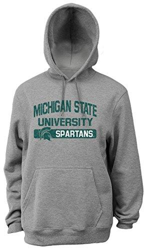 NCAA Michigan State Spartans Men's Pro Weight College Logo Fleece Hoodie, Medium - College Fleece