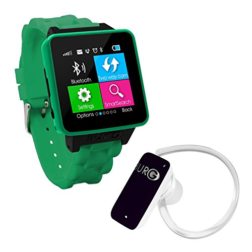 BURG Neon 16A Smartwatch Phone with SIM Card for iOS and Android - ()