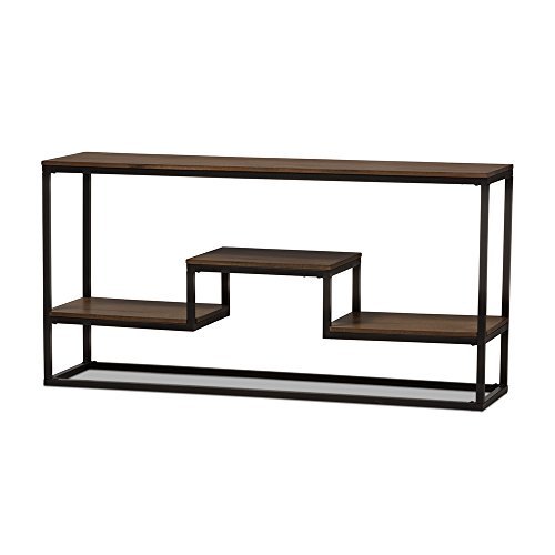 Cheap Baxton Studio Console Table in Black and Brown