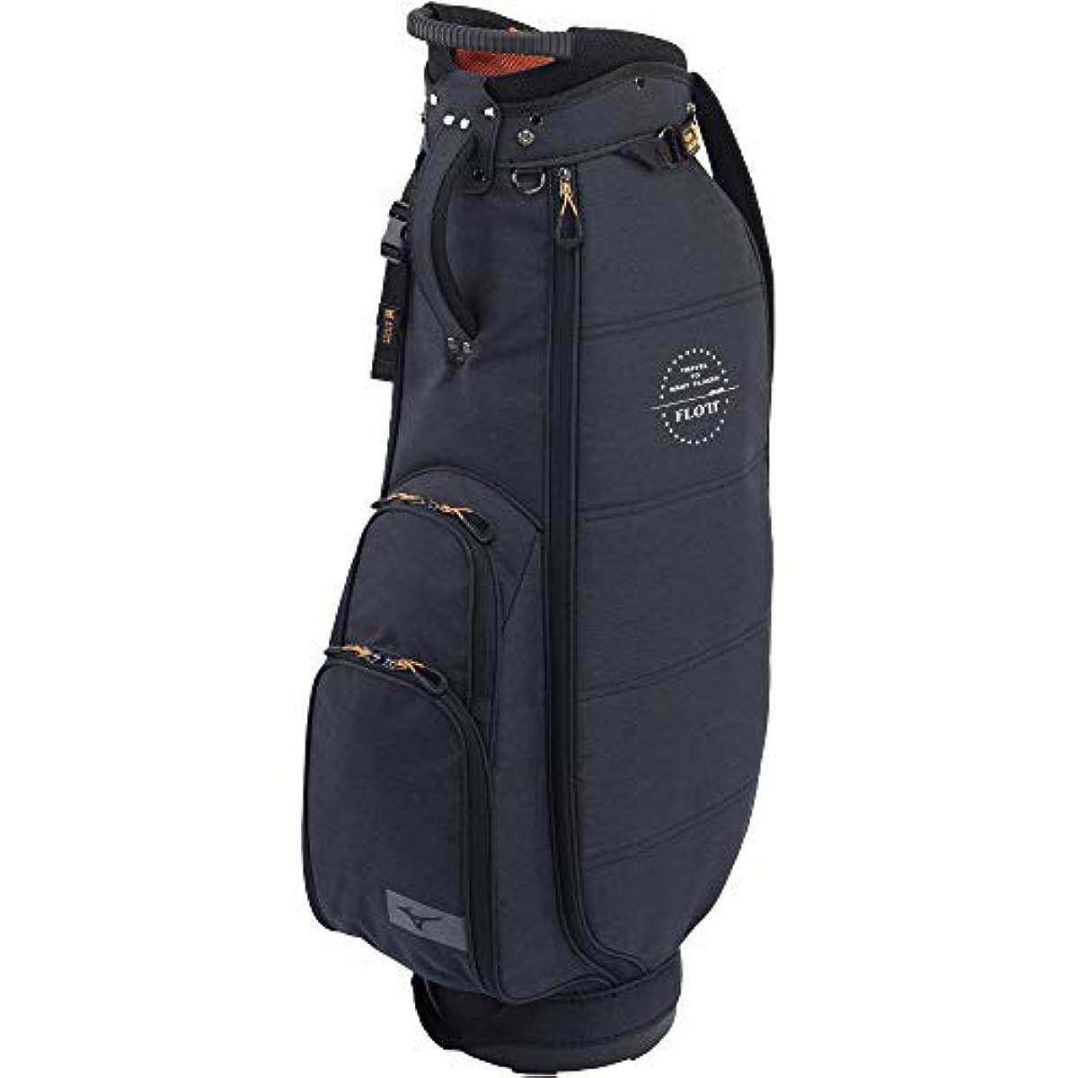 [해외] MIZUNO(미즈노) 골프 캐디백 프로도 맨즈 경량 약2.6KG 8.5퍼터입(67CM)/47인치 대응/5분할 블랙 5LJC202800