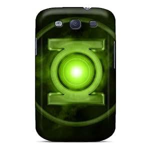 LauraFuchs Samsung Galaxy S3 Shock Absorption Hard Cell-phone Case Provide Private Custom Attractive Green Lantern Skin [YHl17981niPO]