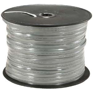 GOWOS 1000Ft UL 8 Conductor Silver Satin Modular Cable Reel 26AWG