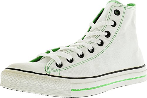 Converse Men'S All Star Chuck Taylor Printed Logos Hi Casual Shoe White, Lime