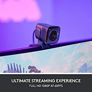 Logitech StreamCam, Live Streaming Webcam, Full 1080p HD 60fps Vertical Video, Smart auto focus and exposure, Dual camera-mount versatility, with USB-C, for YouTube, Gaming Twitch, PC/Mac – Black