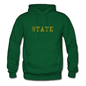 Myrtlebailey State (gold Vintage) Green Printed X-large Hoodies Styling Women