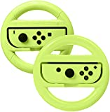 AmazonBasics Steering Wheel for Nintendo Switch – Neon Yellow (2 Pack)