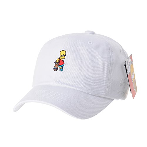 - WITHMOONS The Simpsons Ball Cap Bart Skateboard Matt Groening HL1583 (White)