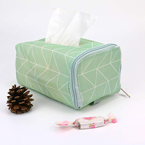 JETEHO Fabric Cotton Facial Tissue Box Cover Cloth Linen Rectangle Napkin Container Dispener Paper Storage for Car Home Office